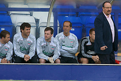 BIRKENHEAD, ENGLAND - Saturday, July 12, 2008: Liverpool's manager Rafael Benitez during his side's first pre-season match of the 2008/2009 season against Tranmere Rovers at Prenton Park. (Photo by David Rawcliffe/Propaganda)