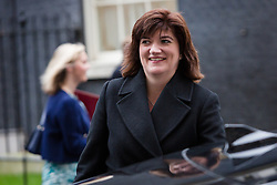 © Licensed to London News Pictures. 15/12/2015. London, UK. NICKY MORGAN leaves a cabinet meeting in Downing Street. Photo credit : Vickie Flores/LNP