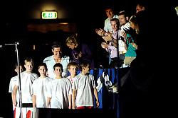07-12-2008 ZWEMMEN: HULDIGING VAN DEN HOOGENBAND: EINDHOVEN<br /> Op een avond vol symboliek en verrassingen heeft Pieter van den Hoogenband afscheid genomen van de zwemsport - Bas van de Goor, Mark Huizinga en Jochem Uytdehaage<br /> ©2008-WWW.FOTOHOOGENDOORN.NL