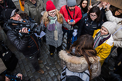 March 15, 2019 - Stockholm, Sverige - 190315 Greta Thunberg during a School Strike for the Climate on Mars 15, 2019 in Stockholm  (Credit Image: © Maxim Thor/Bildbyran via ZUMA Press)