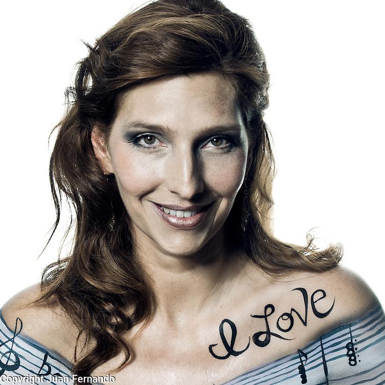 Cristina Morrison cover shot for her new CD, I Love.<br /> Photographed by Juan Ayora