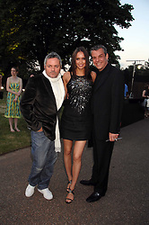 Left to right, NELLIE HOOPER, SASHA VOLKOVA and actor DANNY HUSTON at the annual Serpentine Gallery Summer Party in association with Swarovski held at the gallery, Kensington Gardens, London on 11th July 2007.<br /><br />NON EXCLUSIVE - WORLD RIGHTS