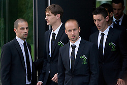 Uros Stanic, Milivoje Novakovic, Miso Brecko, Robert Koren at official presentation of Slovenian National Football team for World Cup 2010 South Africa, on May 21, 2010 in Congress Center Brdo at Kranj, Slovenia. (Photo by Vid Ponikvar / Sportida)