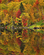 reflections on peacham pond, vt