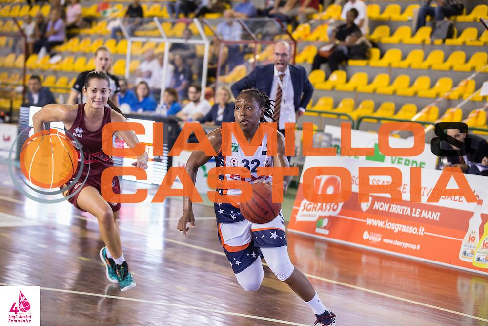 Jori Davis <br /> Umana Reyer Venezia Fixi Piramis Torino<br /> LegA Basket Femminile 2016/2017<br /> Lucca, 02/10/2016<br /> Foto Elio Castoria/Ciamillo-Castoria