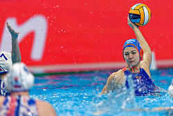21-01-2020 HUN: European Water polo Championship, Budapest <br /> Slovakia - Netherlands 2—32 / Simone Van De Kraats #11 of Netherlands during LEN European Aquatics Waterpolo on January 21, 2020. SVK vs Netherlands in Duna Arena in Budapest, Hungary