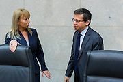 Today (21 January 2015) the College of Commissioners held a first exchange of views on the future European Agenda on Security during its weekly meeting. Carlos Moedas  European Commissioner Research, Innovation and Science (right) greeting mrs BIENKOWSKA Elzbieta