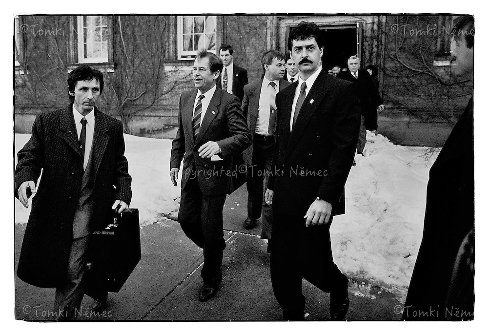 President Vaclav Havel_Official Visit_USA_February_1990