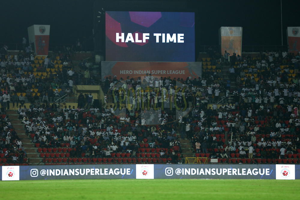 HALF time during match 2 of the Hero Indian Super League between NorthEast United FC and Jamshedpur FC held at the Indira Gandhi Athletic Stadium, Guwahati India on the 18th November 2017<br /> <br /> Photo by: Saikat Das  / ISL / SPORTZPICS
