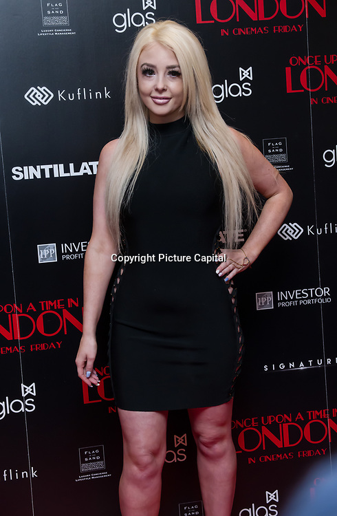 Jodie Weston Arrivers at Once Upon a Time in London - London premiere of the rise and fall of a nationwide criminal empire that paved the way for notorious London gangsters the Kray Twins and the Richardsons at The Troxy 490 Commercial Road, on 15 April 2019, London, UK.
