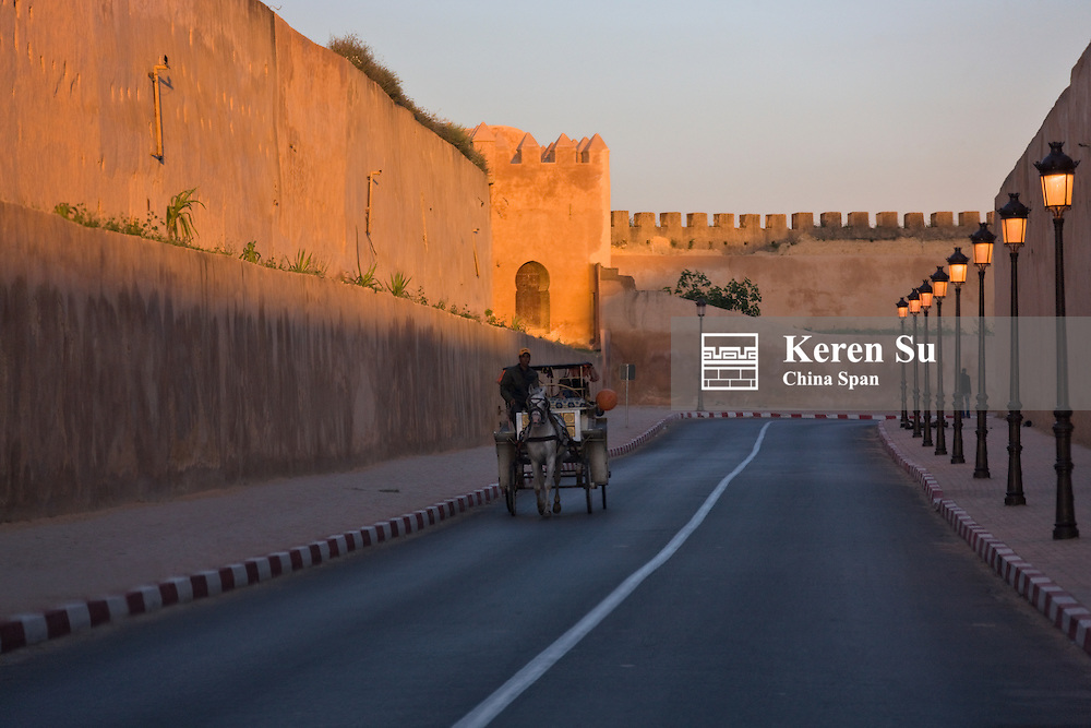 Old city wall, Fes, Morocco