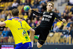 Stas Skube of RK Gorenje during handball match between RK Celje Pivovarna Lasko and RK Gorenje Velenje in Eighth Final Round of Slovenian Cup 2015/16, on December 10, 2015 in Arena Zlatorog, Celje, Slovenia. Photo by Vid Ponikvar / Sportida