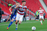 Joe Wright of Doncaster Rovers during the EFL Sky Bet League 1 match between Doncaster Rovers and Rochdale at the Keepmoat Stadium, Doncaster, England on 8 February 2020.