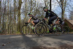 Team roll through the woodland at the top of Kanarieberg.