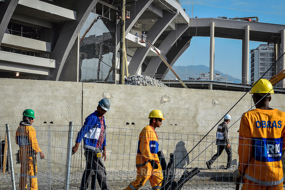 The new Maracanã stadium is still under construction - until the World Cupp 2014; however, it reopened for test & friendlymatches, and the Confederations Cup.