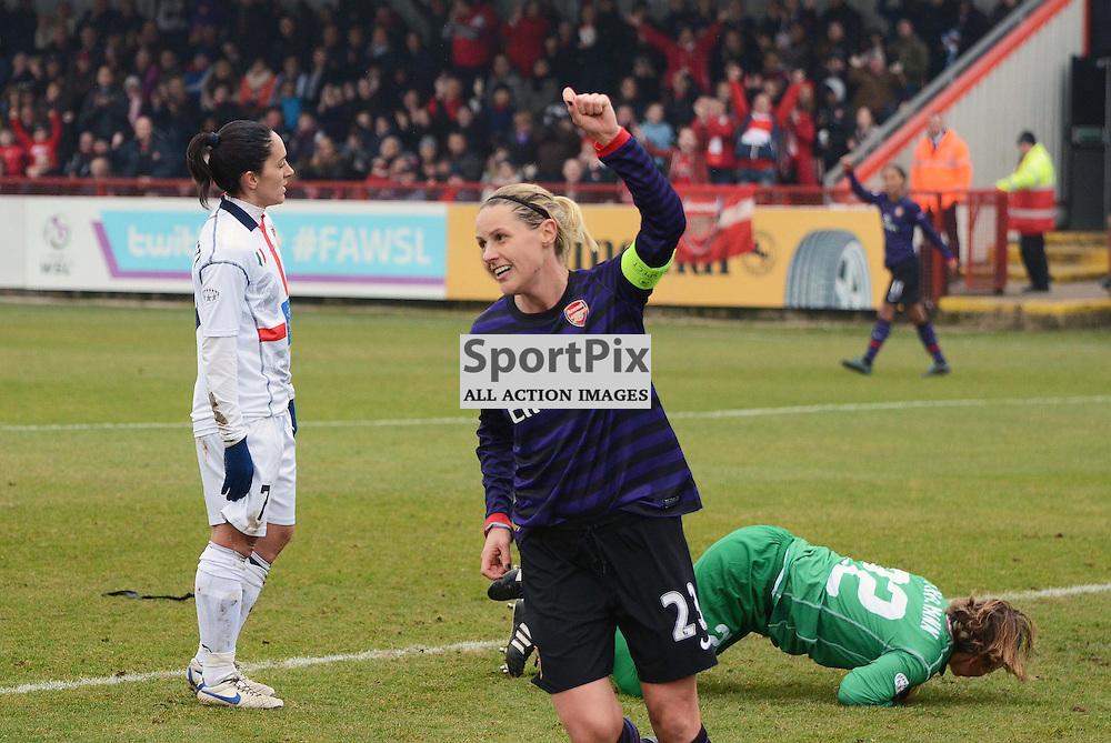 Kelly Smith celebrates her goal. (c) Michael Hulf | StockPix.eu