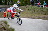 #126 (DONZALLAZ Eloise) SUI during practice at Round 3 of the 2019 UCI BMX Supercross World Cup in Papendal, The Netherlands