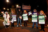 Grenoside Grange Hospital, Unison members on the TUC Day of Action 30th November, Sheffield ..© Martin Jenkinson, tel 0114 258 6808 mobile 07831 189363 email martin@pressphotos.co.uk. Copyright Designs & Patents Act 1988, moral rights asserted credit required. No part of this photo to be stored, reproduced, manipulated or transmitted to third parties by any means without prior written permission