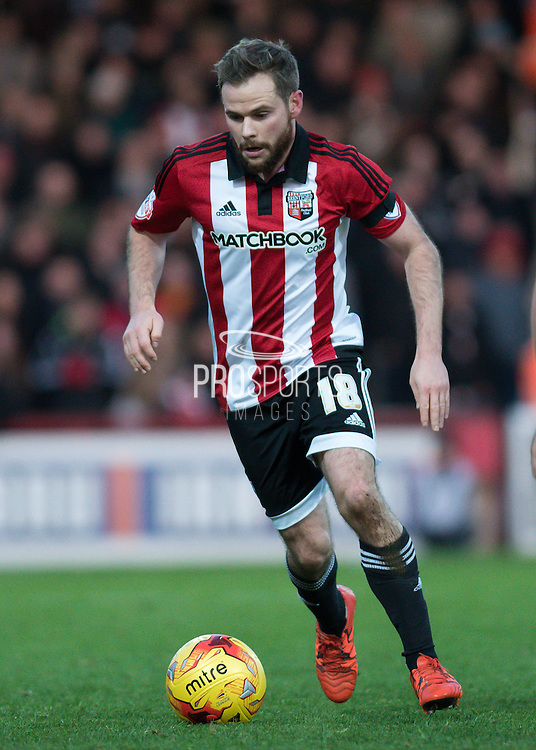 Brentford midfielder Alan Judge during the Sky Bet Championship match between Brentford and Nottingham Forest at Griffin Park, London, England on 21 November 2015. Photo by David Charbit.