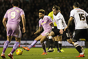 Reading FC midfielder Danny Williams strikes the ball during the Sky Bet Championship match between Derby County and Reading at the iPro Stadium, Derby, England on 12 January 2016. Photo by Aaron Lupton.