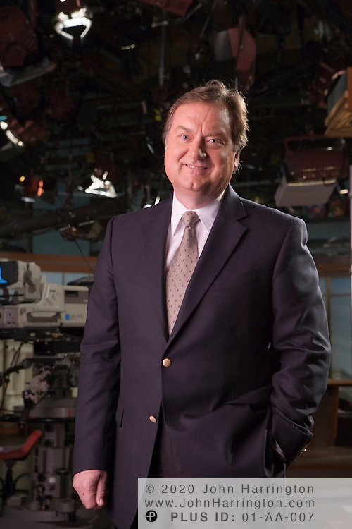 Tim Russert, host of NBC's Meet the Press photographed on location at NBC Studios in Washington, DC April 23, 2006.