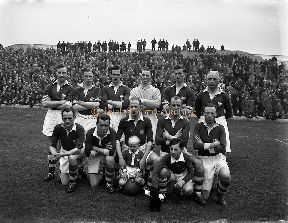 26/4/1953<br /> 4/26/1953<br /> 26 April 1953 <br /> FAI Cup Final, Cork v Evergreen, at Dalymount Park, Dublin. The game ended in a 2-2 draw. The Cork Athletic Team.