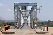 Steel bridge above the Mandrare river, Madagascar, Africa