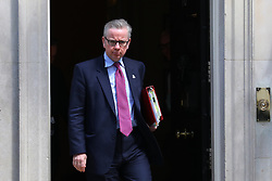 © Licensed to London News Pictures. 22/05/2018. London, UK. Secretary of State for Environment, Food and Rural Affairs Michael Gove on Downing Street after the Cabinet meeting. Photo credit: Rob Pinney/LNP