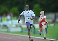 21 Aug 2016: Girls U10 100m Final. 2016 Community Games National Festival 2016.  Athlone Institute of Technology, Athlone, Co. Westmeath. Picture: Caroline Quinn