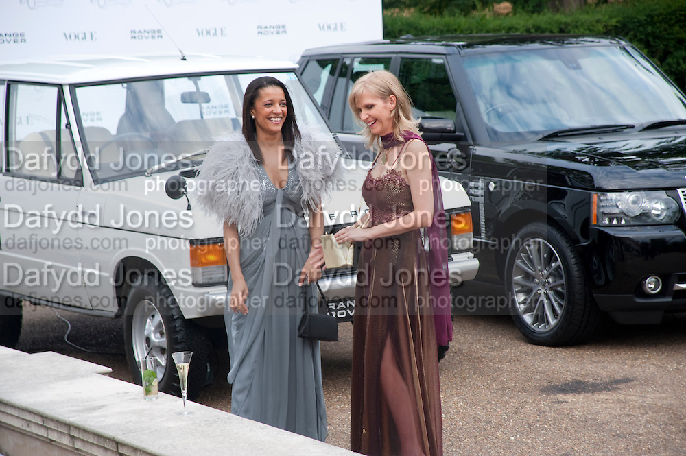 TSOGO ONANA-LAURENCE; CHARLEEN CLARKE;, Alexandra Shulman, Editor of Vogue &amp; Phil Popham, Managing Director of Land Rover<br /> host the 40th Anniversary of Range Rover. The Orangery at Kensington Palace. London. 1 July 2010. -DO NOT ARCHIVE-&copy; Copyright Photograph by Dafydd Jones. 248 Clapham Rd. London SW9 0PZ. Tel 0207 820 0771. www.dafjones.com.