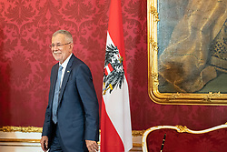 28.05.2019, Praesidentschaftskanzlei, Wien, AUT, Angelobung des interimistischen Bundeskanzler Hartwig Loeger und der Uebergangsregierung durch den Bundespräsidenten, im Bild Bundespraesident Alexander van der Bellen// during commendation of the interim Chancellor Hartwig Loeger and the transitional government by the Federal President at the Federal Presidents Office in Vienna, Austria on 2019/05/27, EXPA Pictures © 2019, PhotoCredit: EXPA/ Florian Schroetter