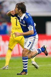 19.11.2011, Veltins Arena, Gelsenkirchen, GER, 1. FBL, FC Schalke 04 vs 1. FC Nuernberg, im Bild Jubel Raul (#7 Schalke) nach dem 2-0 // during FC Schalke 04 vs. 1. FC Nuernberg at Veltins Arena, Gelsenkirchen, GER, 2011-11-19. EXPA Pictures © 2011, PhotoCredit: EXPA/ nph/ Kurth..***** ATTENTION - OUT OF GER, CRO *****