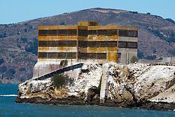 Warehouse on Alcatraz Island, Golden Gate National Recreation Area, San Francisco Bay, San Francisco, California, United States of America