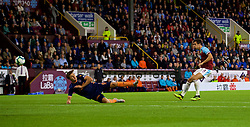 BURNLEY, ENGLAND - Thursday, August 16, 2018: Burnley's Jack Cork scores the first goal in extra time during the UEFA Europa League Third Qualifying Round 2nd Leg match between Burnley FC and İstanbul Başakşehir at Turf Moor. (Pic by David Rawcliffe/Propaganda)c