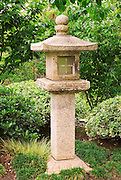 Oribe-doro (stone lantern) at the Japanese Friendship Garden in Balboa Park, San Diego, California