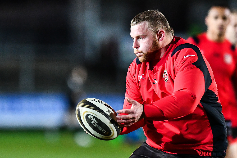 Dragons' Sam Hobbs during the pre match warm up<br /> <br /> Photographer Craig Thomas/Replay Images<br /> <br /> Guinness PRO14 Round 18 - Dragons v Cheetahs - Friday 23rd March 2018 - Rodney Parade - Newport<br /> <br /> World Copyright © Replay Images . All rights reserved. info@replayimages.co.uk - http://replayimages.co.uk