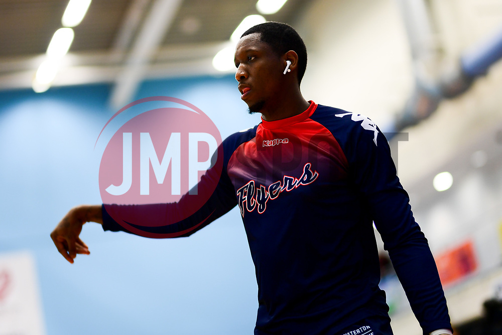 Fred Thomas of Bristol Flyers warms up prior to tip off - Photo mandatory by-line: Ryan Hiscott/JMP - 06/12/2019 - BASKETBALL - SGS Wise Arena - Bristol, England - Bristol Flyers v Sheffield Sharks - British Basketball League Championship