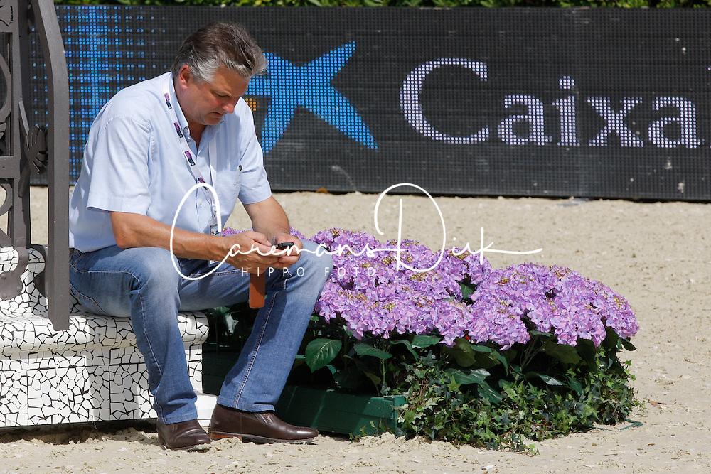 Gravemeier Kurt (GER)<br /> chef d'équipe Belgum<br /> Furusiyya FEI Nations Cup Jumping Final Round 1<br /> CSIO Barcelona 2013<br /> © Dirk Caremans
