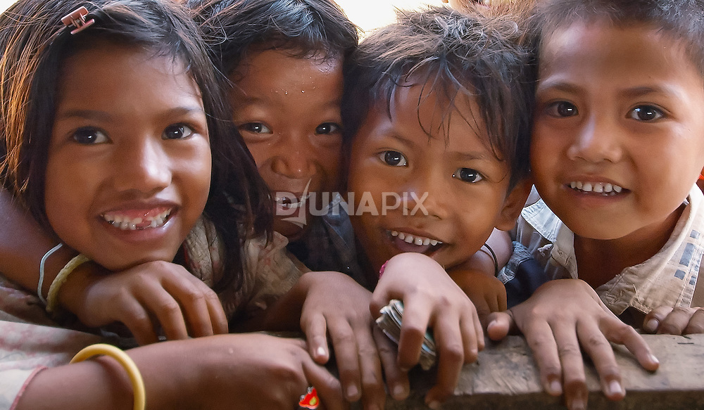 A gaggle of kids, Komodo Village, Komodo National Park