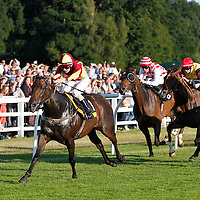 Commandingpresence and K T O'Neil winning the 7.00 race