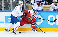 Jonathan Janil / Vladimir Sobotka - 07.05.2015 - Republique Tcheque / France - Championnat du Monde de Hockey sur Glace <br /> Photo : Xavier Laine / Icon Sport