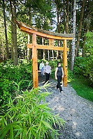 On Mayne Island, a must see is the Japanese garden, conceived as a means of commemorating the Japanese who had settled and worked on the Island between 1900 to 1942.  Mayne Island, Gulf Islands, British Columbia, Canada.
