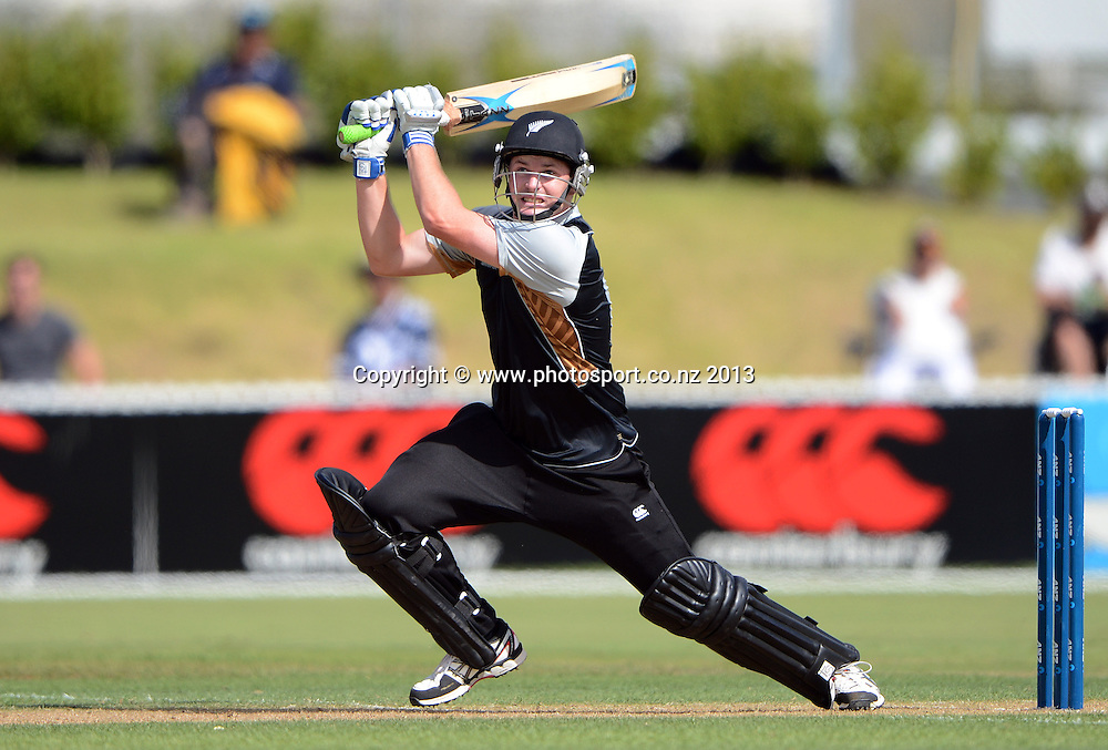 New Zealand batsman Colin Munro. Twenty20 Cricket. England v NZ XI. England Cricket tour to New Zealand. Cobham Oval. Whangarei, New Zealand on Tuesday 5 February 2013. Photo: Andrew Cornaga/Photosport.co.nz