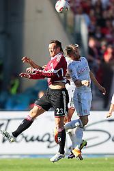 09.04.2011, easy Credit Stadion, Nuernberg, GER, 1.FBL, 1. FC Nuernberg / Nürnberg vs FC Bayern München / Muenchen, im Bild:.Julian Schieber (Nuernberg #23) gg Anatoliy Tymoshchuk (Muenchen #44).EXPA Pictures © 2011, PhotoCredit: EXPA/ nph/  Will       ****** out of GER / SWE / CRO  / BEL ******