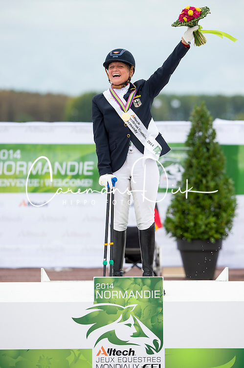 Hannelore Brenner and Women of the World Champion Individual Grade III - Team Competition Grade III Para Dressage - Alltech FEI World Equestrian Games™ 2014 - Normandy, France.<br /> © Hippo Foto Team - Jon Stroud <br /> 25/06/14