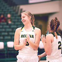 2nd year forward, Macaela Crone (8) of the Regina Cougars during the Women's Basketball Home Game on Fri Nov 30 at Centre for Kinesiology,Health and Sport. Credit: Arthur Ward/Arthur Images
