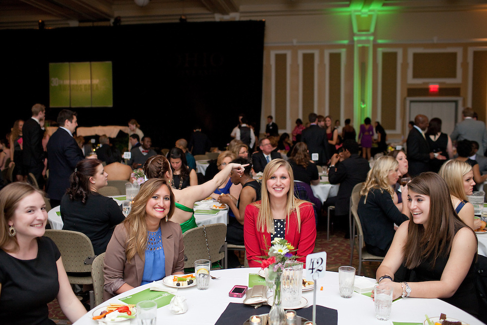 Ohio University's 30th Annual Leadership Awards Gala took place in the Baker Center Ballroom in Athens, Ohio on Wednesday, April 3, 2013. Photo by Chris Franz