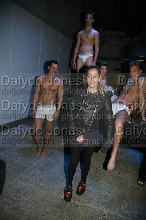 Models, Collaborative Presentation with artist Martin Creed of Calvin Klein's new collection at P3, Marylebone Road October 15, 2007 -DO NOT ARCHIVE-© Copyright Photograph by Dafydd Jones. 248 Clapham Rd. London SW9 0PZ. Tel 0207 820 0771. www.dafjones.com.