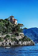 Picturesque waterfront house, Portofino, Liguria, Italy.