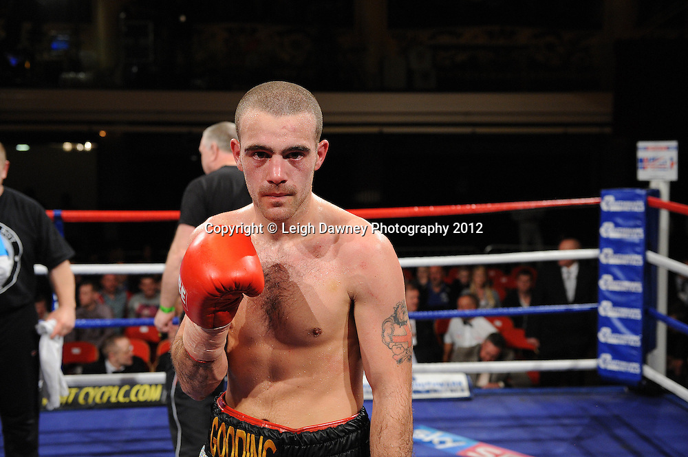 Martin Walsh is disqualified and Rick Godding (pictured) claims the Welterweight contest at The Winter Gardens, Blackpool on the 31st March 2012. Frank Maloney and Steve Wood VIP Promotions. © Leigh Dawney Photography 2012.